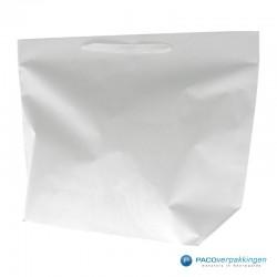 Papieren draagtassen - Wit - Stevig - Vooraanzicht