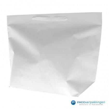 Papieren draagtassen - Wit - Stevig