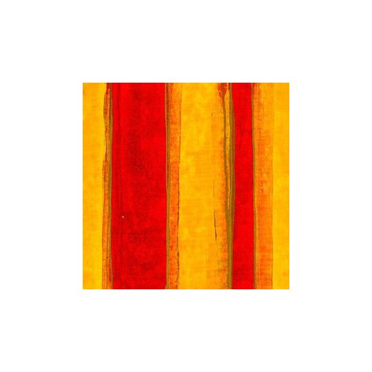 Inpakpapier - Strepen - Rood op geel (Nr. 3010)
