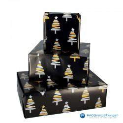 Kerst inpakpakket - Kerstboom (Vanessa) - Draagtassen, inpakpapier en stickers - Toepassingsfoto