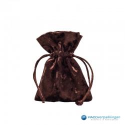 Fluwelen zakjes - Brons - Vooraanzicht - Dicht