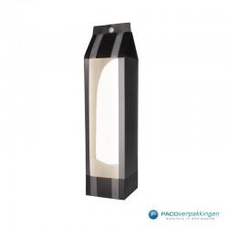 Wijntassen - Grijs en zwart mat met venster - Luxe - Zijaanzicht