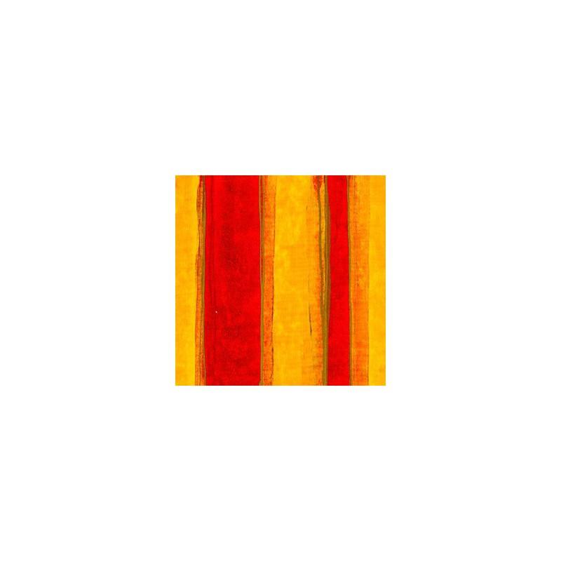 Inpakpapier - Strepen - Rood op geel (Nr. 3010) - Close-up