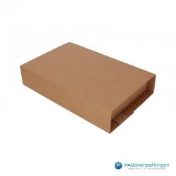 Boekverpakking - Bruin - A4 (Nr. V026085) - Zijaanzicht dicht