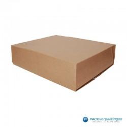 Boekverpakking - Bruin (Nr. V026089) - Zijaanzicht dicht