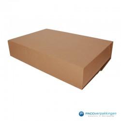 Boekverpakking - Bruin - A3 - Zijaanzicht dicht