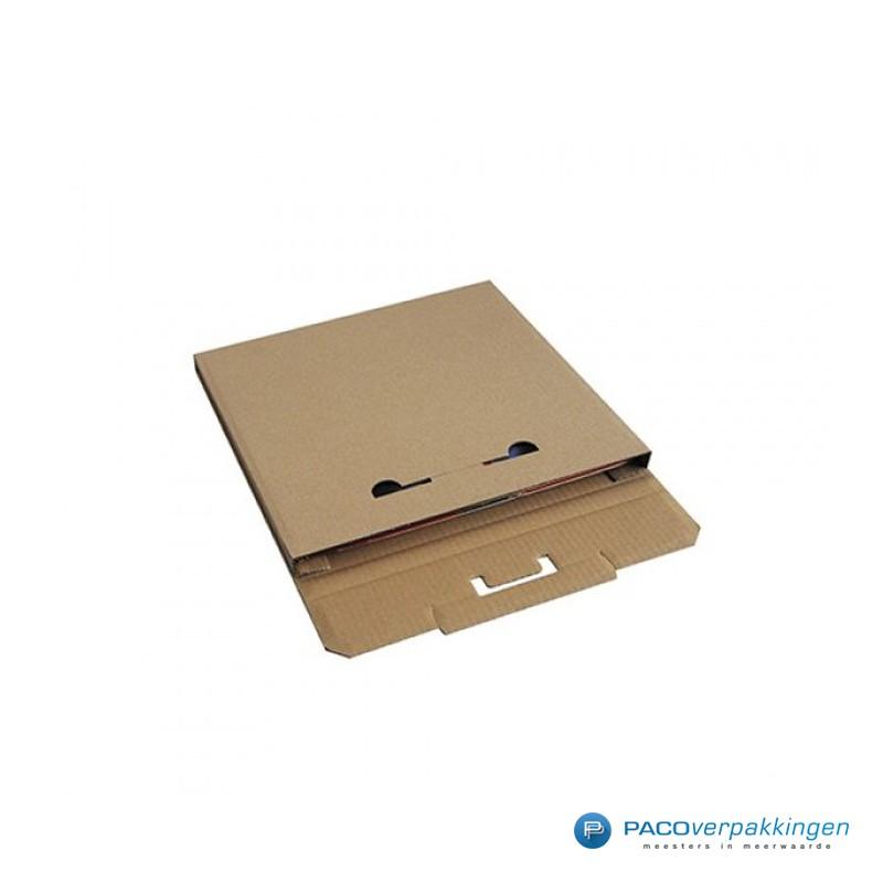 LP Doos - Vinyl plaat verpakking - Bruin - Zijaanzicht open
