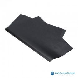 Zijdepapier - Parelmoer - Zwart Zilver - Budget - Zijaanzicht