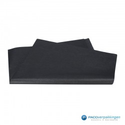 Zijdepapier - Parelmoer - Zwart Zilver - Budget - Vooraanzicht