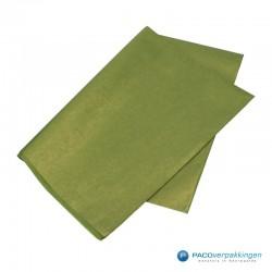 Zijdepapier - Parelmoer - Mos groen - Zijaanzicht