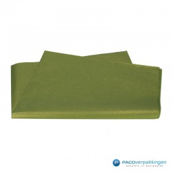 Zijdepapier - Parelmoer - Mos groen - Vooraanzicht