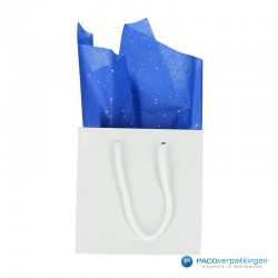 Zijdepapier - Edelsteen - Zilver op blauw - Budget