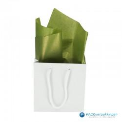 Zijdepapier - Parelmoer - Mos groen
