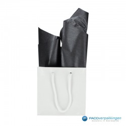 Zijdepapier - Parelmoer - Zwart Zilver - Budget -