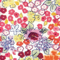 Zijdepapier - Bloemen - Multikleur op wit - Close-up
