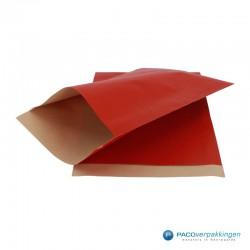 Papieren zakjes - Rood Kraft - Vooraanzicht
