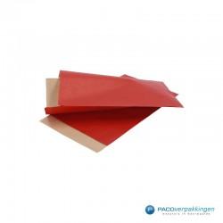 Papieren zakjes - Rood Kraft (Nr. 1502) - Zijaanzicht