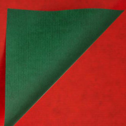 Inpakpapier - Effen - Rood en groen kraft (Nr. 990) - Close-up