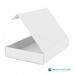 Magneetdoos - Wit Mat (Toscana) - Zijaanzicht achter open