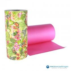 Inpakpapier - Natuur - Vlinders - Multikleur op groen (Nr. 807) - Rol