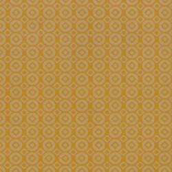 Inpakpapier - Stippen en vierkanten - Geel op bruin kraft (Nr. 114) - Close-up