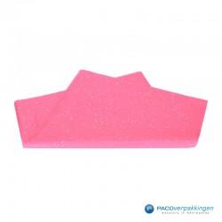 Zijdepapier - Edelsteen - Zilver op roze - Budget - Vooraanzicht