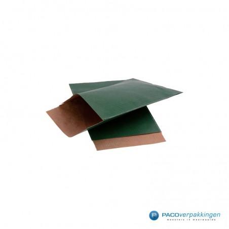 Papieren zakjes - Groen met bruin kraft (Nr. 101)