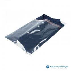Overhemd inpakpakket - Plastic overhemdzakken met overhemd karton - Transparant en wit - Combi
