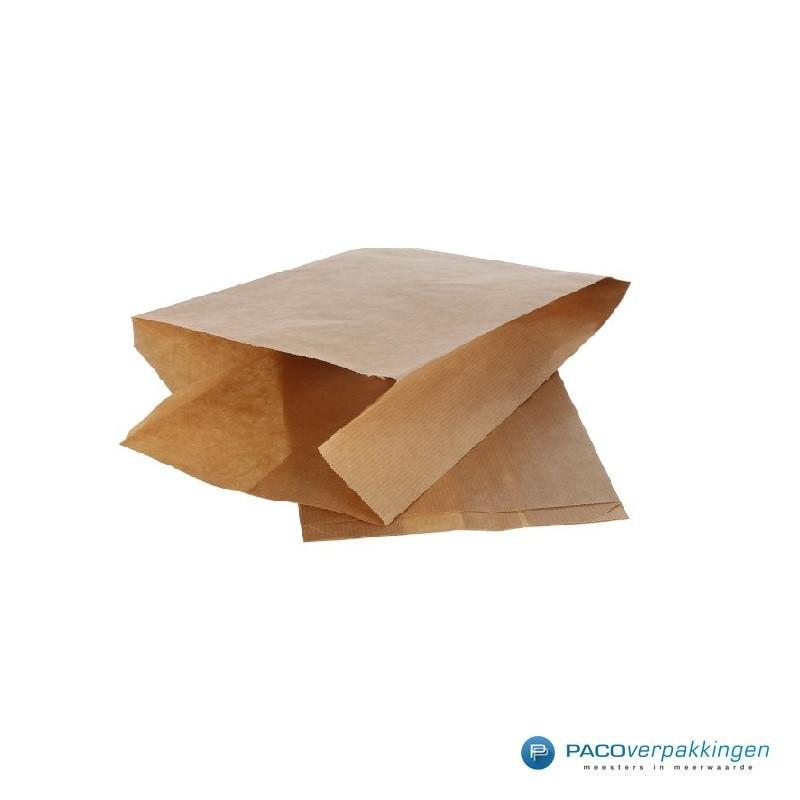 Papieren zakjes - 1 pond fruit - Bruin - Zijaanzicht