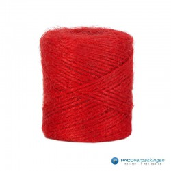 Jute touw - Rood - Vooraanzicht