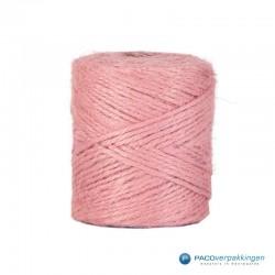 Jute touw - Roze - Vooraanzicht