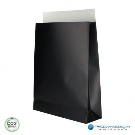 Geschenkzakjes papier - Zwart Mat (Palermo)