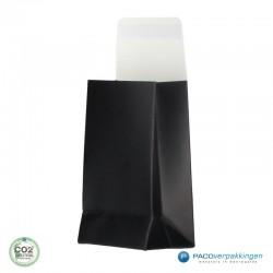 Geschenkzakjes papier - Zwart Mat (Palermo) - Vooraanzicht