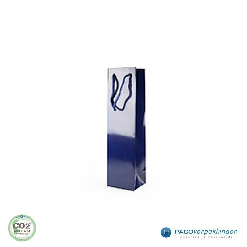 Wijntassen - Blauw Glans - Luxe - Zijaanzicht voor