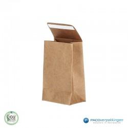 Geschenkzakjes papier - Bruin Kraft (Palermo) - Zijaanzicht voor