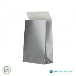 Geschenkzakjes papier - Zilver (Palermo) - Zijaanzicht
