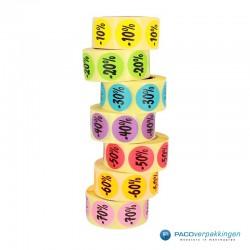 Kortingsstickers - 40% - Paars - Stapel