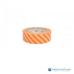 Masking Tape Mt - Stripe Orange - Vooraanzicht