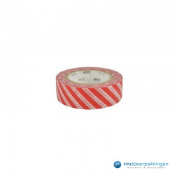 Masking Tape Mt - Stripe Vermilion - Vooraanzicht