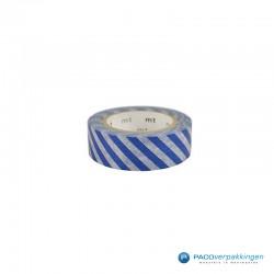 Masking Tape Mt - Stripe Marine Blue - Vooraanzicht