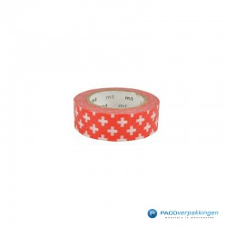 Masking Tape Mt - Cross Carmine - Vooraanzicht