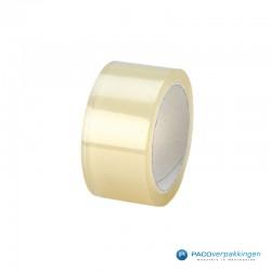 Verpakkingstape - Transparant - Dubbele lijmlaag - Vooraanzicht