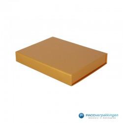Magneetdoos - A5 - GoudGlans - Vooraanzicht Zijkant