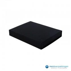 Magneetdoos - A5 - Zwart mat - Zijaanzicht