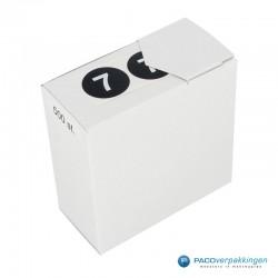 Kleding stickers - Cijfer 7 - Wit op Zwart Glans - rol