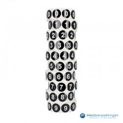 Kleding stickers - Cijfer 7 - Wit op Zwart Glans - toepassing