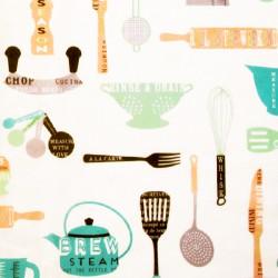 Zijdepapier - What's Cooking? - Multikleur op wit - Close-up