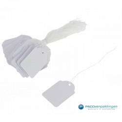 Hangetiketten met koord - Wit - Product