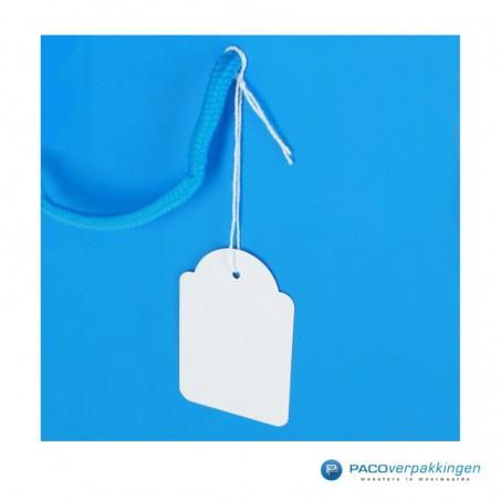 Hangetiketten met koord - Wit