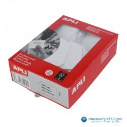 Hangetiketten met koord - Wit - Verpakking